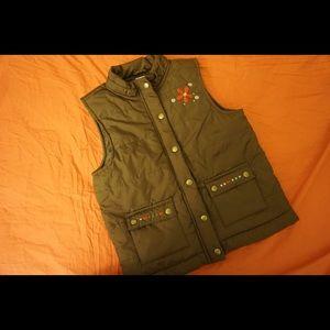 Girls brown flower vest.